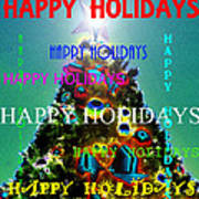 Happy Holidays Word Splash A Poster