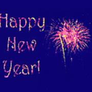 Happy New Year Fireworks Poster by Marianne Campolongo