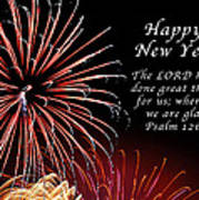 Happy New Year Psalm 123-3 Poster