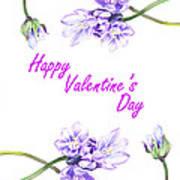 Happy Purple Valentine Poster