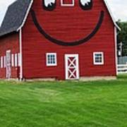 Happy Red Barn Poster