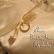 Happy Wedding Anniverary Poster