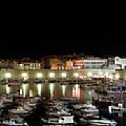 Harbor At Night Poster
