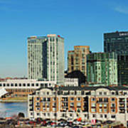 Harbor East Complex In Baltimore From Federal Hill Poster