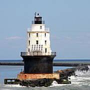 Harbor Of Refuge Light  And Breakwater Poster