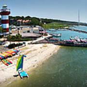 Harbor Town Beach 3 In Hilton Head Poster