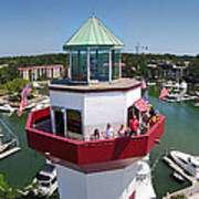 Harbor Town Lighthouse In Hilton Head Poster