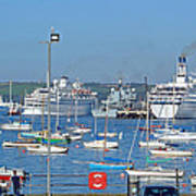 Harbour And Queen's Wharf - Falmouth Poster