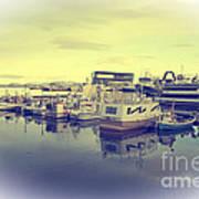 Harbour At Reykjavik Poster