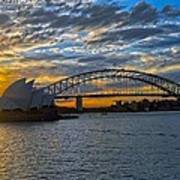 Harbour Bridge And Operahouse Poster