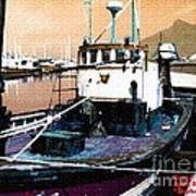 Harbour Scene Poster