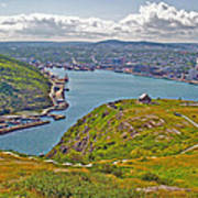 Harbour View From Signal Hill National Historic Site In Saint John's-nl Poster
