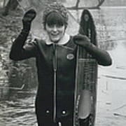 Hardy Jeannette Breaks The Ice At Rickmansworth Aquadrome Poster