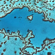 Hardy Reef On Great Barrier Reef Poster