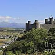 Harlech Castle Snowdonia Poster
