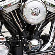 Harley Chrome And Steel Poster