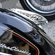 Harley Davidson Motorcycle American Eagle Fender Ornament Usa Poster