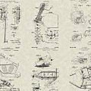 Harley-davidson Motorcycle Patent Collection Poster