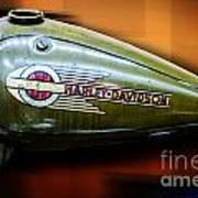Harley-davidson Tank Logo Poster