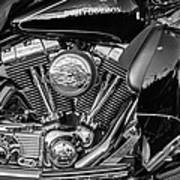 Harley Davidson Ultra Classic Monochrome Poster