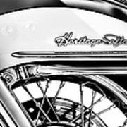Harley Heritage Softail Monochrome Poster
