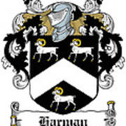 Harman Coat Of Arms Carlow Ireland Poster