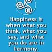 Harmony Blue Poster