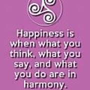 Harmony Violet Poster