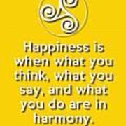 Harmony Yellow Poster
