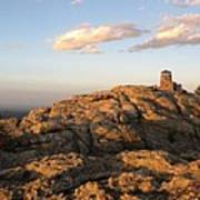 Harney Peak At Dusk Poster