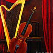 Harp And Cello Poster