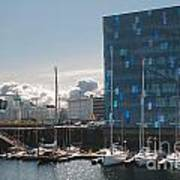 Harpa And The Harbor In Reykjavik Poster