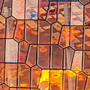 Harpa Sunset - Reykjavik Iceland Abstract Photograph Poster