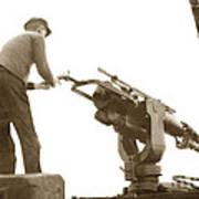 harpoon gun Moss Landing whaling Monterey Bay circa 1920 Poster