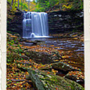 Harrison Wright Falls In Autumn Poster