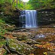 Harrison Wright Falls In Early Fall Poster