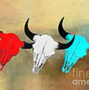 Hart's Camp Buffalo Skulls Poster by GCannon