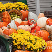 Harvest Display At The Vermont Country Store Poster