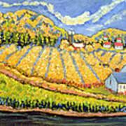 Harvest St Germain Quebec Poster