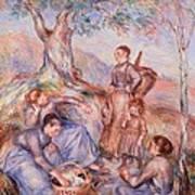 Harvesters Breakfast Poster by Pierre-Auguste Renoir
