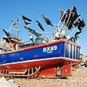 Hastings Fishing Boat Poster