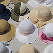 Hats For Sale Next To Marina, Lerici Poster