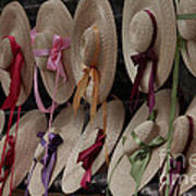 Hats In Colonial Williamsburg Poster
