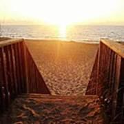 Hatteras Island Sunrise 6 8/23 Poster