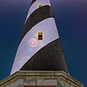Hatteras Lighthouse At Night Poster