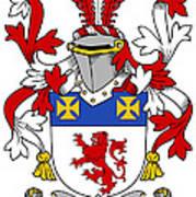Haugher Coat Of Arms Irish Poster
