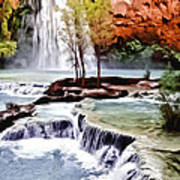 Havasau Falls Painting Poster