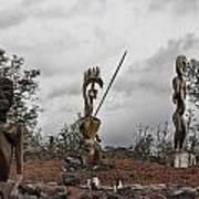Hawaii Sculptures Poster