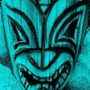 Hawaiian Aquamarine Mask Poster