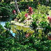 Hawaiian Cultural Garden Honolulu Airport Poster